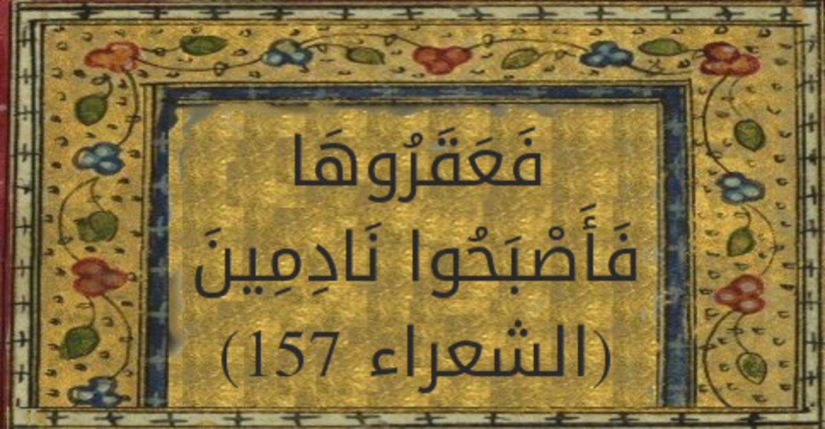 فَعَقَرُوهَا فَأَصْبَحُوا نَادِمِينَ | تفسير ابن كثير | الشعراء 157